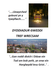 Prayer Diary pic Welsh